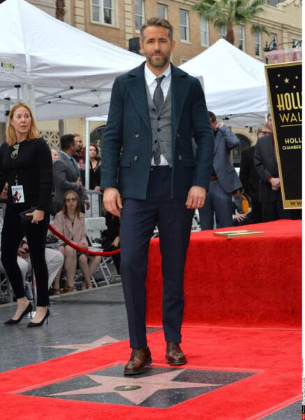 Ryan Reynolds était le 15 décembre 2016 à Los Angeles pour l'inauguration de son étoile sur le Walk of Fame