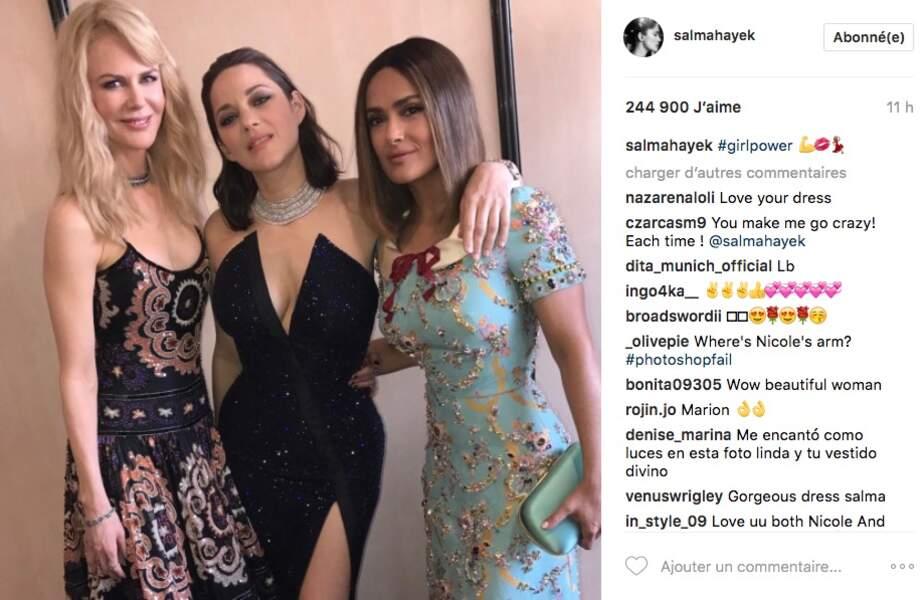 Les trois grâces Nicole Kidman, Marion Cotillard et Salma Hayek #girlpower !