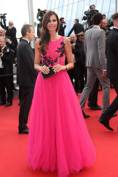 """Christina Pitanguy lors de la montée des marches pour le film """"Dheepan"""" au Festival de Cannes"""