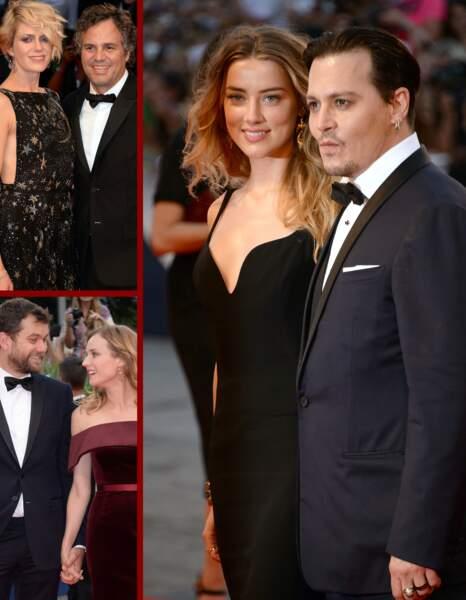 Johnny Depp et Amber Heard, Mark Ruffalo, Diane Kruger… Les stars sont venus en amoureux à Venise