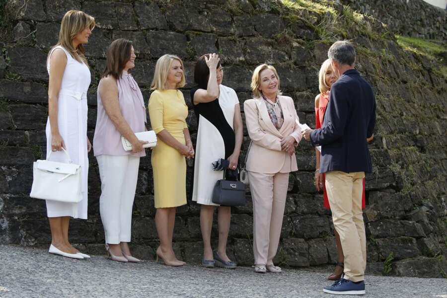 Melania Trump, Akie Abe, Cecilia Morel, Jenny Morrison et Malgorzata Tusk sont accueillies à Espelette