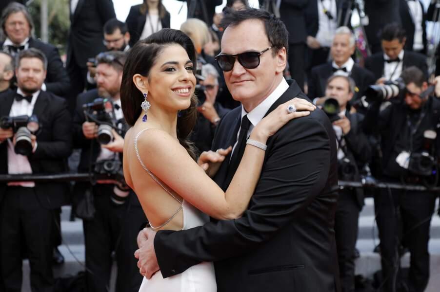 Mais la vraie star de la soirée c'est Quentin Tarantino, ici avec son épouse pour la première cannoise du film !