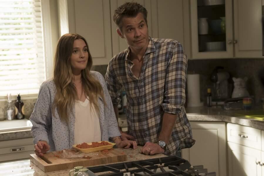 C'est dans une série Netflix, Santa Clarita Diet que Drew Barrymore fait son retour à l'écran avec Timothy Olyphant