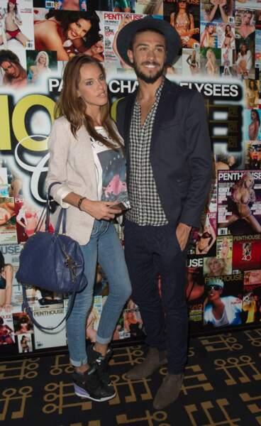 Les candidats de télé-réalité Vanessa Lawrens et Julien Guirado (Les Anges 6), en couple depuis 2014.