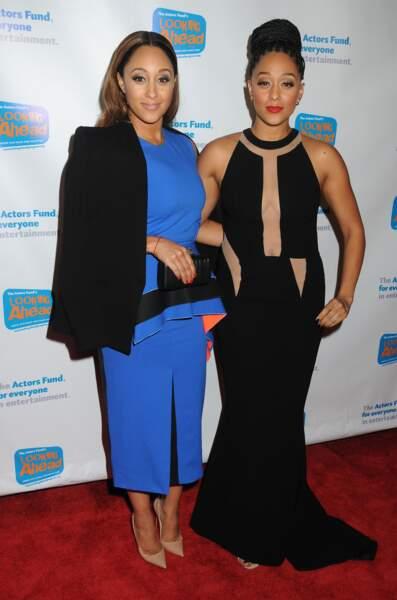 Les jumelles Tia et Tamera Mowry, autrefois stars de la série jeunesse Tia & Tamera.