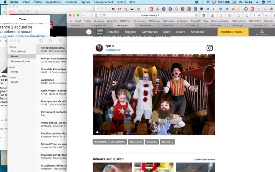 Neil Patrick Harris et sa famille ont encore sorti le grand jeu : cette fois, ils ont choisi le thème du cirque
