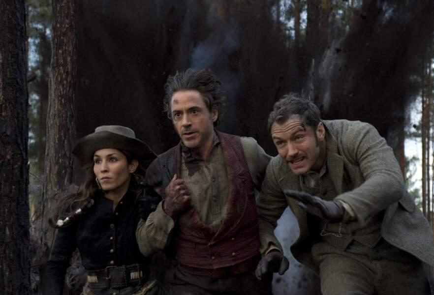 Elle donne surtout la réplique à Jude Law et Robert Downey Jr