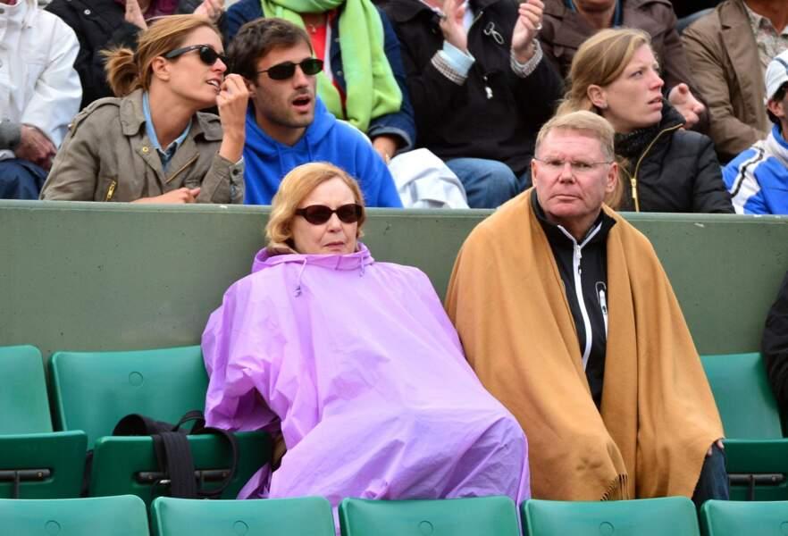 La pluie n'était visiblement pas le seul problème à Roland-Garros, hier. Gla-gla-gla.