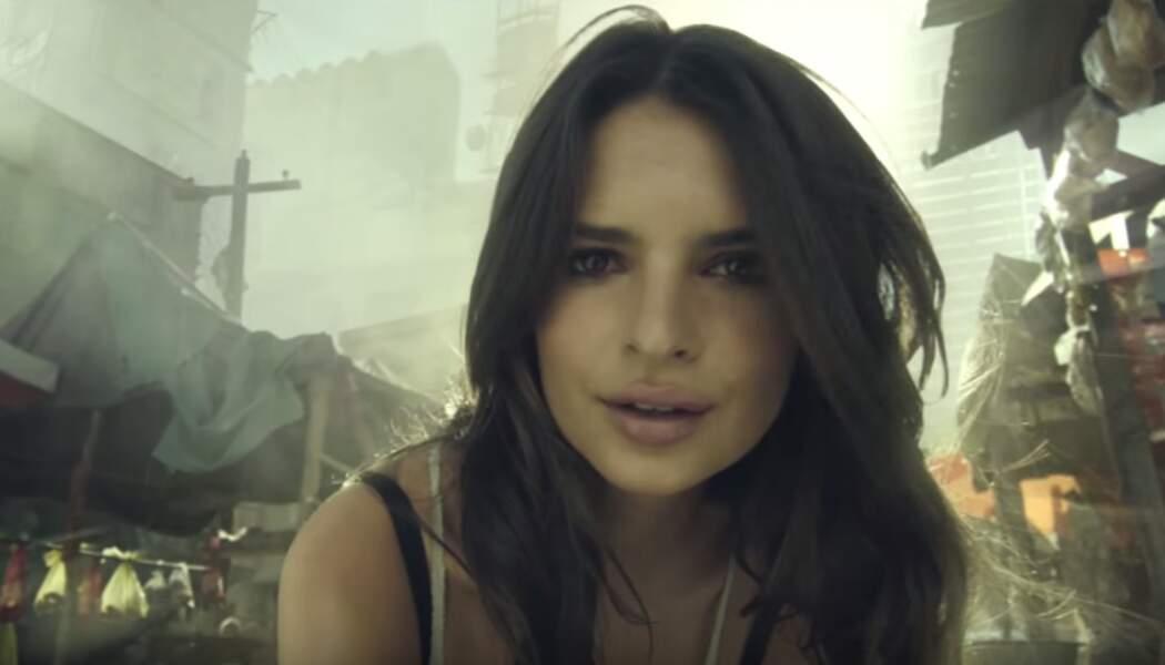 Oui, la jeune femme est apparue, en 3D, dans la bande-annonce du jeu-vidéo Call of Duty : Advanced Warfare