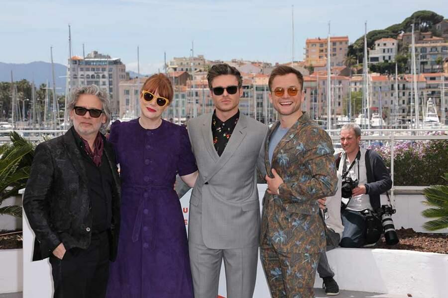 Le réalisateur Dexter Fletcher et les acteurs Bryce Dallas Howard, Richard Madden et Taron Egerton