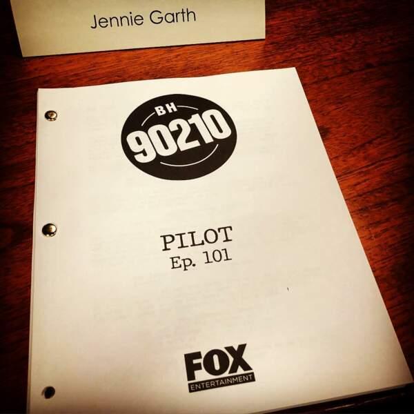 Jennie Garth a mis fin au suspense en avril en dévoilant une photo du script de l'épisode pilote.
