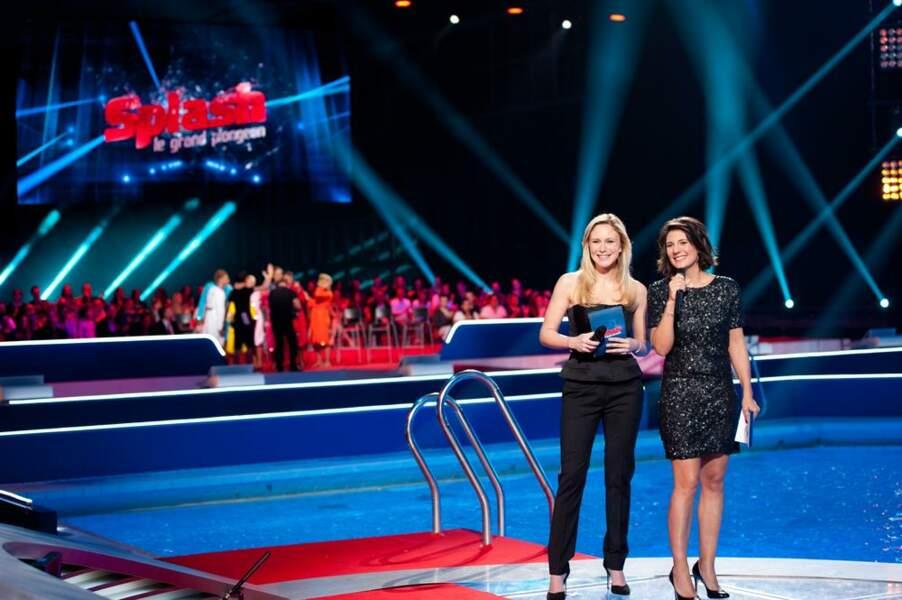 Estelle Denis et Julie Taton, véritable atout charme de cette première saison de Splash