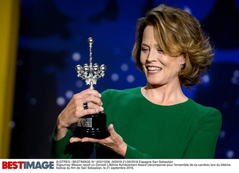 SIgourney Weaver reçoit son Donosti Lifetime Achievement Award