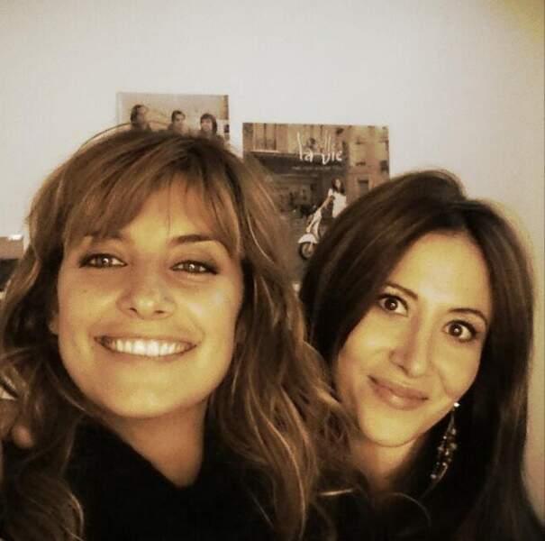 Et on termine par Laetitia Milot et Fabienne Carat, amies pour la vie. Sympa le selfie aussi !
