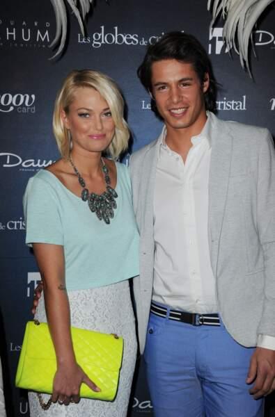 La candidate de télé-réalité Caroline Receveur et Valentin Lucas, en couple depuis 2012.