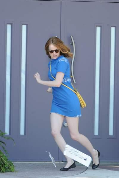 Tellement heureuse qu'elle en court de plaisir ! Run Emma, run !