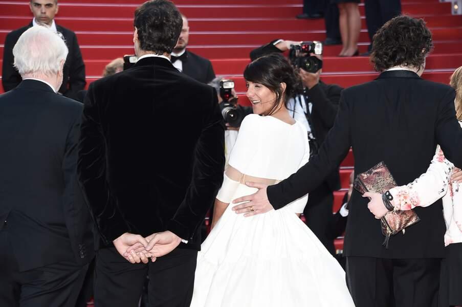 Florence Foresti lors de la montée des marches pour Le Petit Prince, au 68ème Festival de Cannes