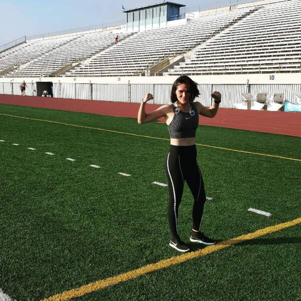 Mais Isabelle Fuhrman est surtout complètement accro au sport.