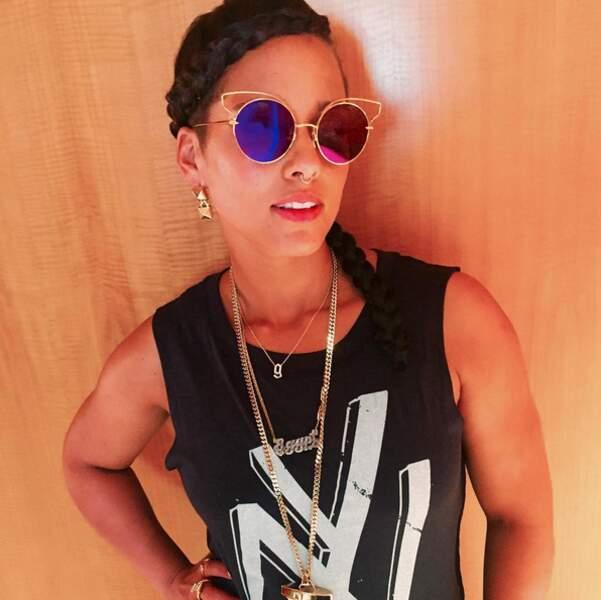 Rétro-futuriste pour Alicia Keys.