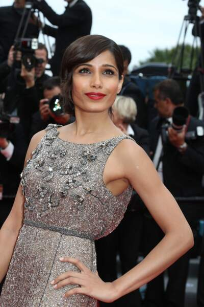 L'actrice indienne Freida Pinto, toujours sublime.