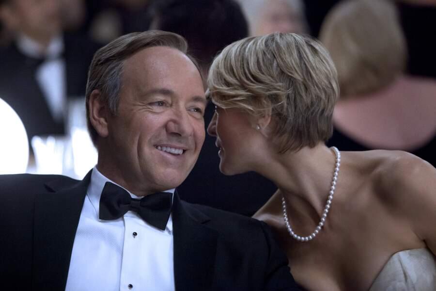 7. Frank et Claire Underwood (House of Cards) : fortune estimée à 344 000 dollars