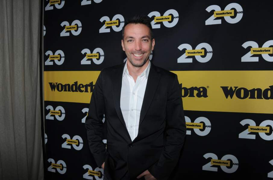 David Strajmayster et Adriana Karembeu lors de la soirée anniversaire des 20 ans de Wonderbra