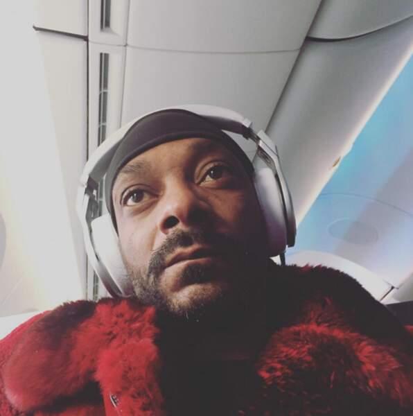 Snoop Dogg est encore plus high que d'habitude (vu qu'il est dans l'avion). Get it ?