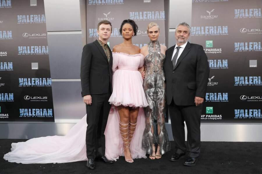 """L'équipe de """"Valérian"""" s'est retrouvée lundi 17 juillet au soir à Los Angeles pour l'avant-première du film"""