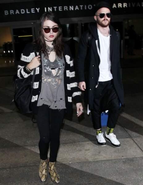 L'artiste Frances Bean Cobain et Isaiah Silva, mariés depuis 2014.