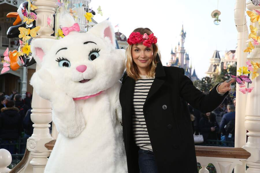 Barbara Schulz fête le printemps à Disneyland Paris