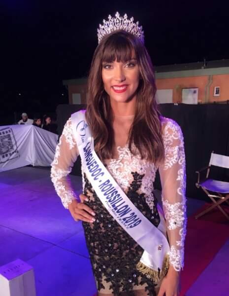 Lucie Caussanel a été couronnée Miss Languedoc-Roussillon le 3 août à Vias