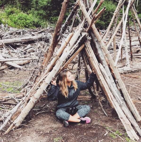 Atelier tipi pour Vanessa Ray (Cece Drake dans Pretty Little Liars) à Aspen dans le Colorado.