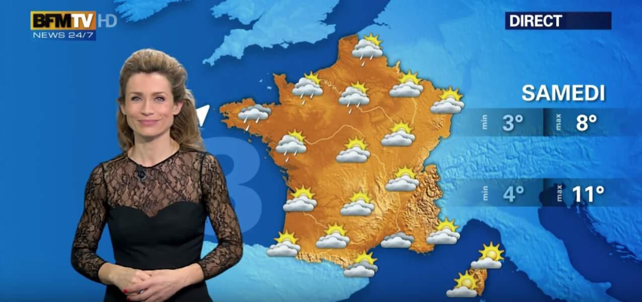 Les accros à la météo peuvent retrouver Sandra Larue tous les week-end sur BFMTV