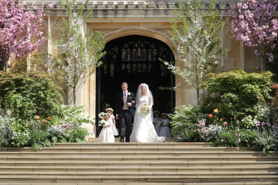 Ce samedi 8 mai, Lady Gabriella Windsor et Tom Kingston se sont mariés au château de Windsor