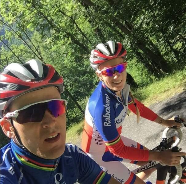 Entre Julien Absalon (VTT) et Pauline Ferrand-Prevot (cyclisme), c'est une affaire qui roule !