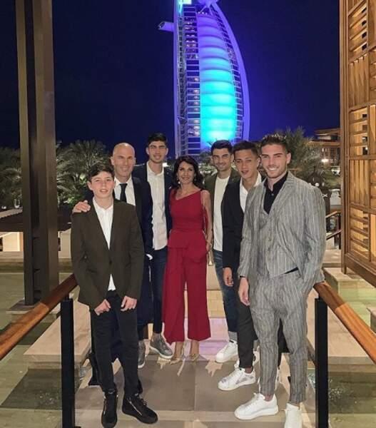 Et les Zidane étaient réunis à Dubaï.