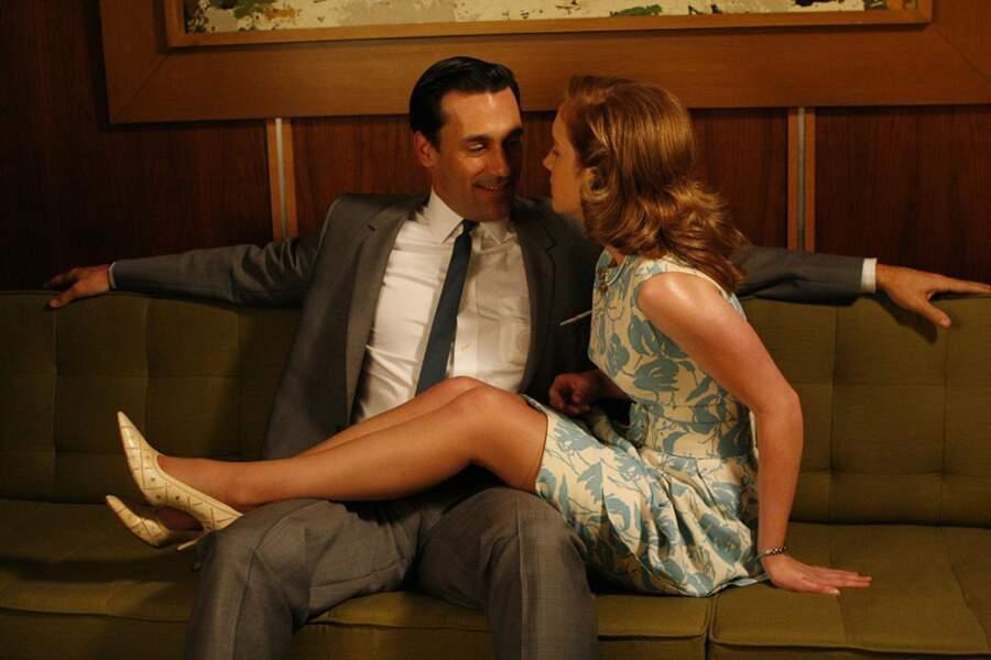 Don Draper de Mad Men est un véritable homme à femmes, malgré son engagement à Betty...
