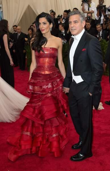Autre couple heurex et amoureux : George Clooney et Amal Alamuddin
