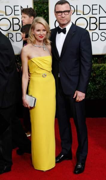 Naomi Watts, qui a incarné Diana dans le film éponyme, et son mari, Liev Schreiber