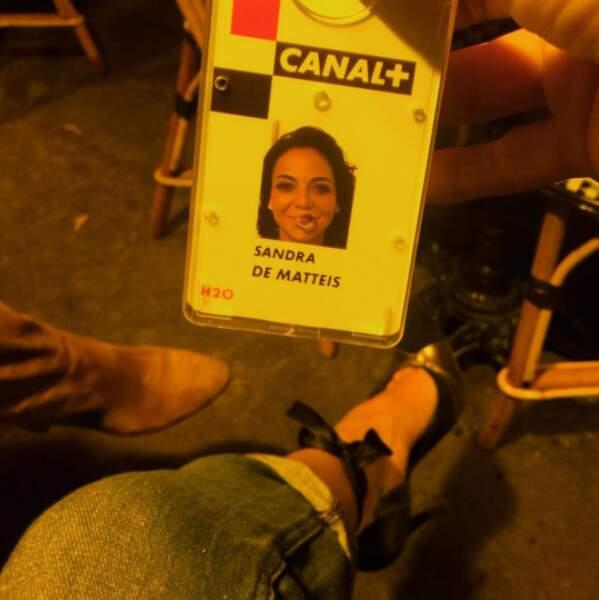 Et que vous êtes aussi heureux que Sandra de Matteis, chroniqueuse sur C8, qui a enfin son badge.