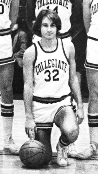 David Duchovny avec son équipe de basket en 1978
