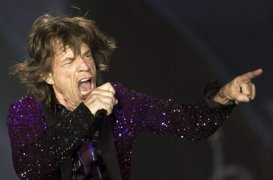 Mick Jagger pendant un concert des Rolling Stones à Tel Aviv en Israël en juin 2014