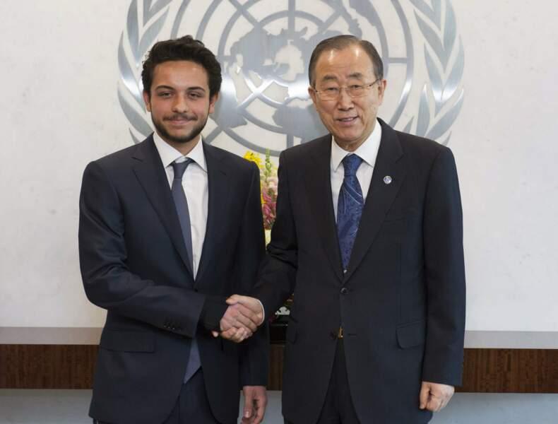 Jordanie : le prince Hussein, 21 ans, aux Nations Unies avec Ban Ki-Moon