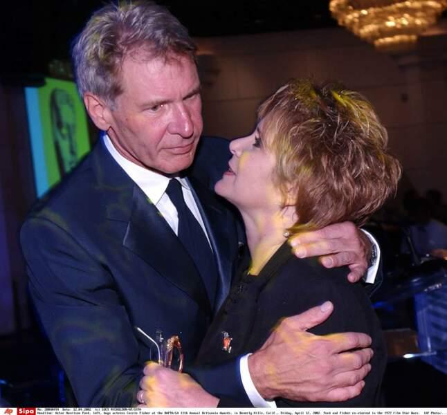 Avec Harrison Ford, en 2002