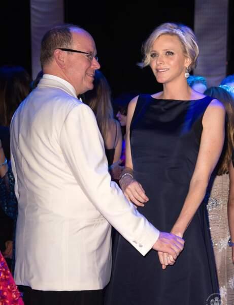 Charlène de Monaco et le Prince Albert lors de la soirée.
