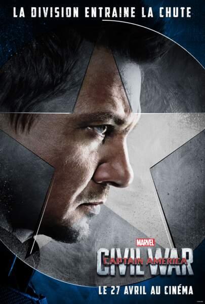 Clint Barton alias Oeil-de-faucon (incarné par Jeremy Renner)