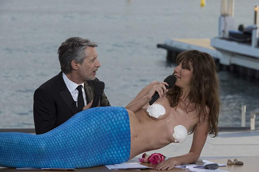 La très sexy Doria Tillier pendant sa météo à Cannes