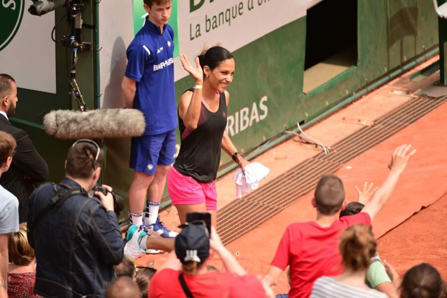 Christine Arron a conquis le public de Roland-Garros