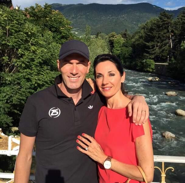 Zinédine Zidane était avec femme et enfants en Italie.