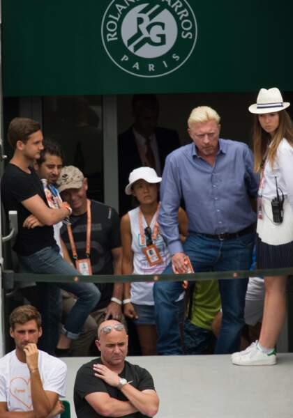 Boris Becker surveille son ancien poulain Novak Djokovic
